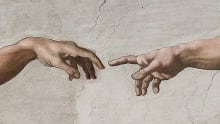 Discovery of the Heart - Creation of Adam - Michelangelo
