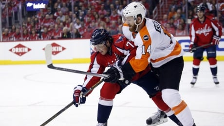 Alex Ovechkin Hit Ends Sean Couturier's Night
