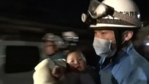 Second strong quake hits southern Japan; some reported trapped