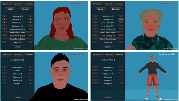 Game avatar study