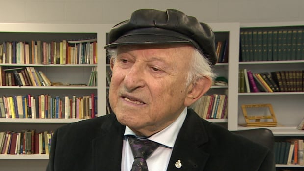 Holocaust survivor Nate Leipciger shares his story about being 11 years old, living in Auschwitz with his father. He told an audience in Saskatoon how his father saved his life twice in the death camp.