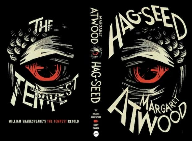 """Jacket and cover art for """"Hag-Seed"""" by Margaret Atwood"""
