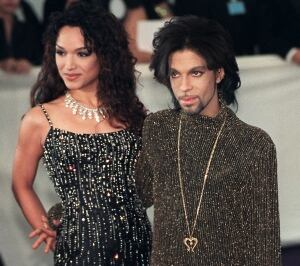 Prince and first wife Mayte 1999