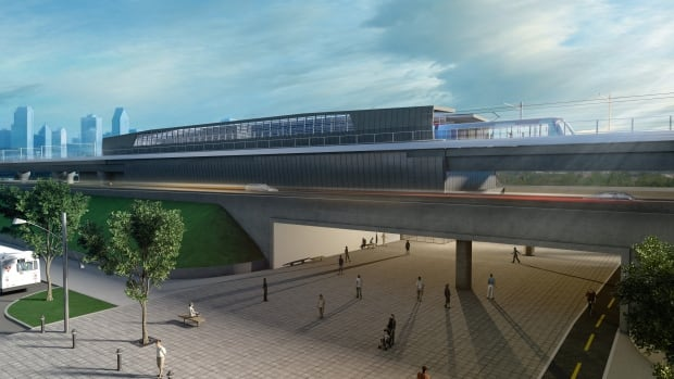 One of the new commuter rail stations envisioned by the Caisse de dAi??pA?t et placement du QuAi??bec.