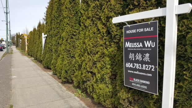 Real estate sign in Vancouver