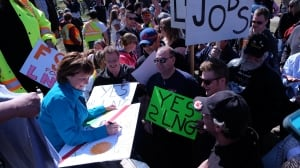 Christy Clark shrugs off urban roots for rural crowds