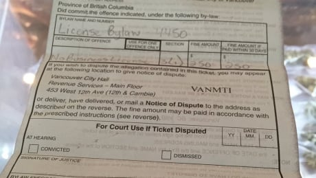Don Biere pot shop city of vancouver fine ticket