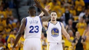 Klay Thompson scores 37 in West semifinal opener win