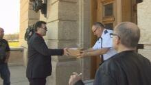 petition on prayer at Saskatchewan legislature