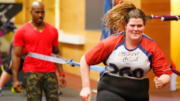 Contestant Rachel Frederickson is seen during an episode of NBC's The Biggest Loser. ​A new study has found that many competitors on the NBC show leave with a slower metabolism, making it more difficult to keep off the pounds.