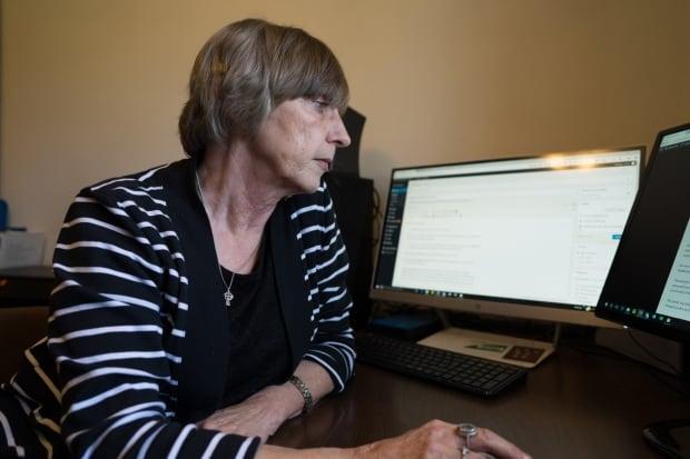 Sylvia MacEachern working on Sylvia's Site