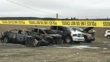 Collision Clinic burned vehicles