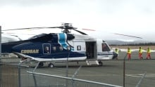 Cougar helicopter at St. John's international airport