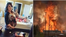 Stacey Greeley pregnant woman fleeing Fort McMurray wildfire