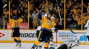Predators outlast Sharks in triple-OT thriller