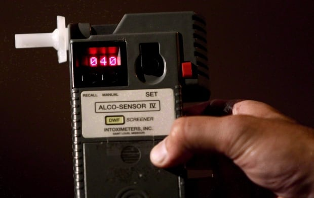 Breathalyzer impaired driving