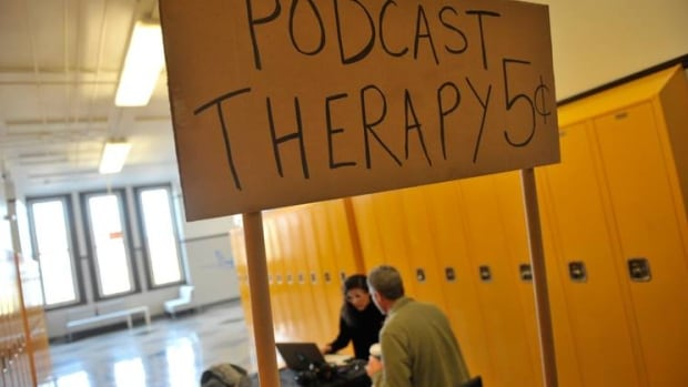 Podcast Therapy sign
