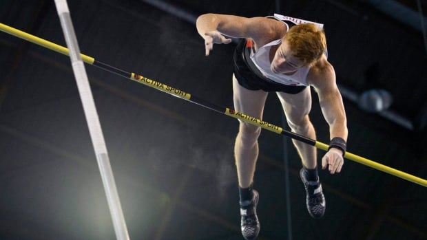 Shawn Barber, shown in this September 2015 file photo, won the pole vault event in Kawasaki, Japan on Sunday, May 8, 2016.