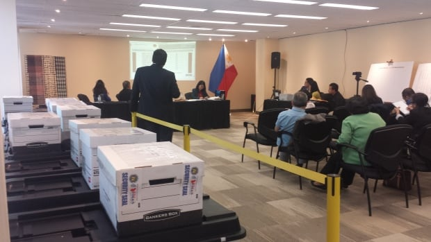 Voting results at Philippine Embassy in Ottawa