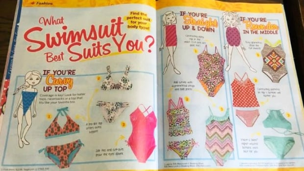 Parents, doctors and body image advocates are upset over a bathing suit body type guide in Discovery Girls, a magazine for girls aged eight to 13.