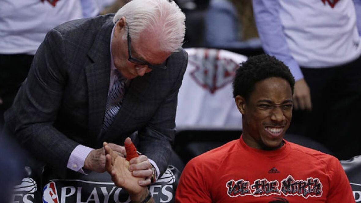 Raptors' DeMar DeRozan says shoelace treatment 'hurts like hell,' but works - CBC Sports - Basketball - NBA