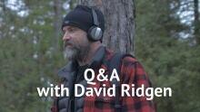 Q&A w David Ridgen