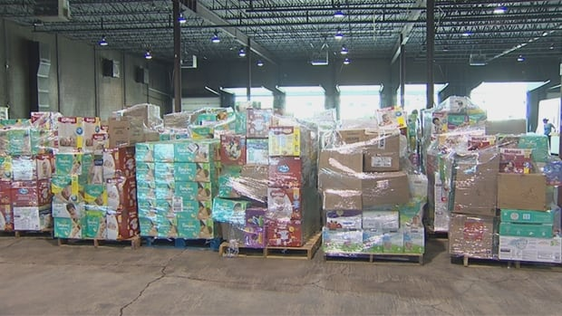 There is 60,000 sq. ft. of space available at the new central warehouse at 3870 98 Street where donations are being accepted for Fort McMurray evacuees.