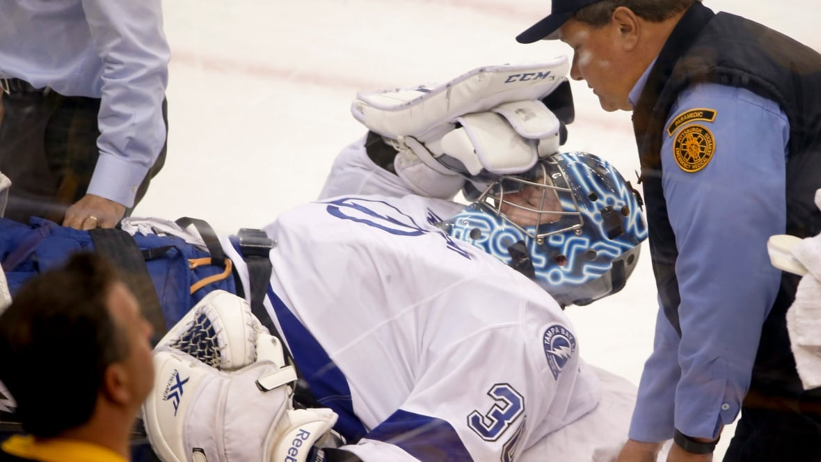 Ben Bishop leaves Lightning-Penguins Game 1 on stretcher - NHL on CBC Sports - Hockey news, opinion, scores, stats, standings