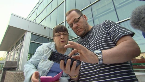 Evacuees Rifat and Kozeta Dyrmishi found out their home remains standing after looking at satellite images from the app on Sunday.