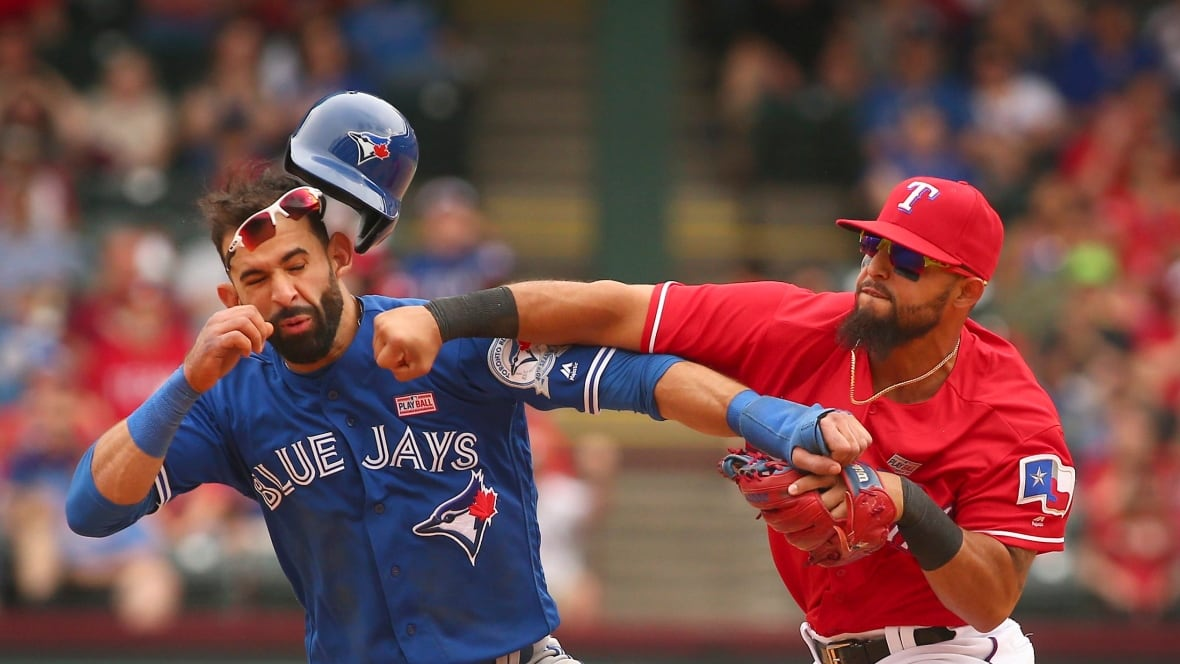 Jose Bautista punched in face in finale of Jays-Rangers series - CBC Sports - Baseball - MLB