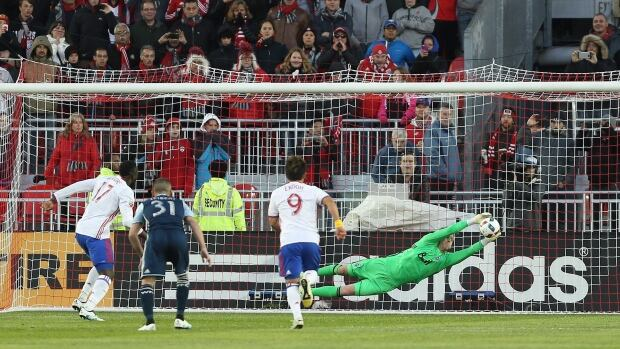Toronto FC forward Jozy Altidore (17) was apparently injured during ...