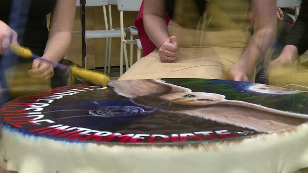 Native drum made by Summerside Intermediate student