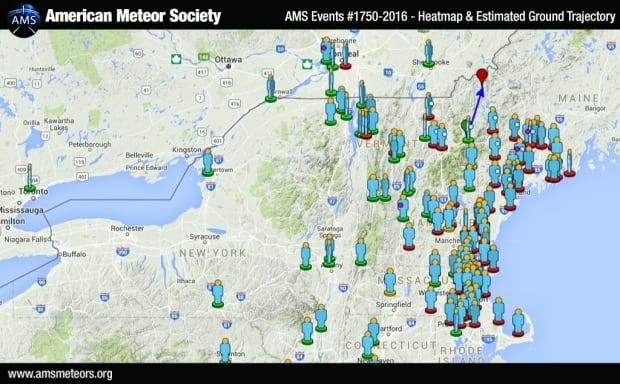 Meteor Map