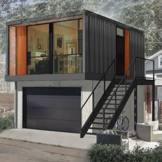 Shipping Container Homes Move Into Edmonton S Back Alleys Edmonton Cbc News