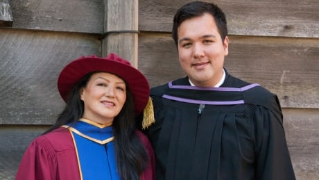 A tale of two UBC degrees: Mom graduating with a doctorate, son as a lawyer