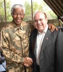 Victor Dahdaleh with Nelson Mandela