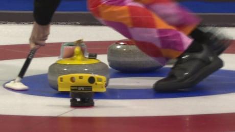 Curling broom testing NRC Ottawa rocks brooms
