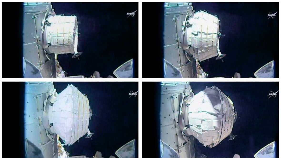 NASA successfully inflates new room at space station ...
