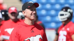 Stampeders rookie head coach Dickenson impressed with competition as camp opens