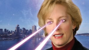 Ad with laser beams
