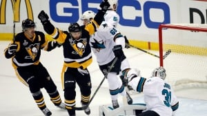 Penguins blow early lead but emerge victorious in win over Sharks