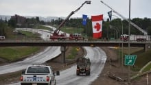 Flag in Fort McMurray
