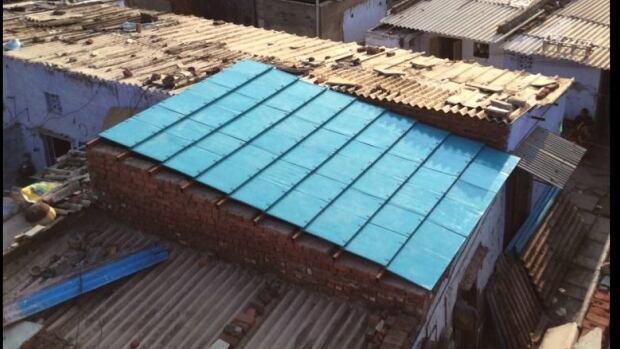Cardboard roof