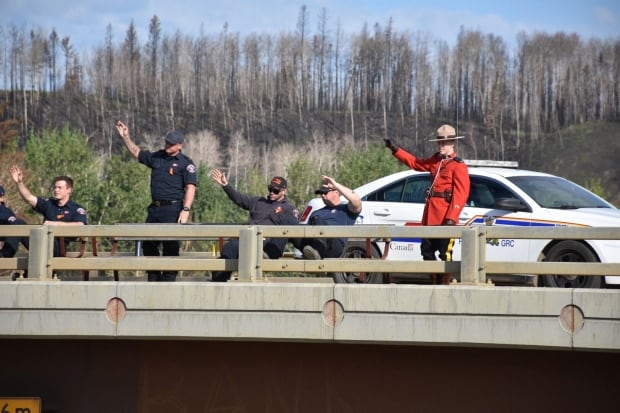 Mountie and firefighters