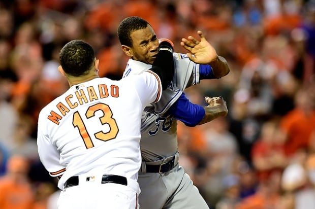 Manny Machado Ejected Following Brawl As Orioles Defeat Royals 9-1