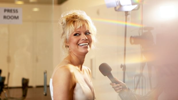 Pamela Anderson at LA launch party for Prince's PETA song