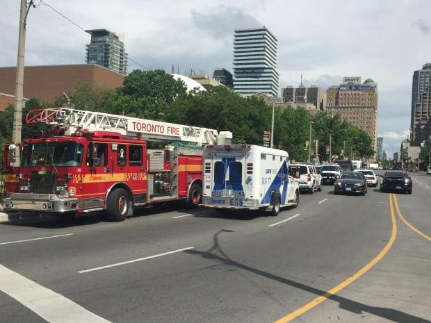 Buildings on lockdown in downtown Toronto
