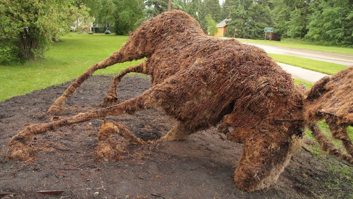 Riding Mountain National Park Topiary Moose Toppled Over