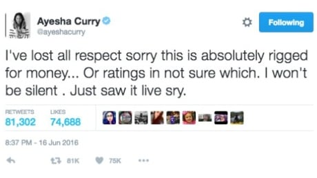 Ayesha Curry tweet