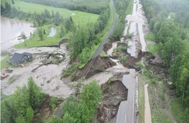 Parts of BC 97 washed away in floods